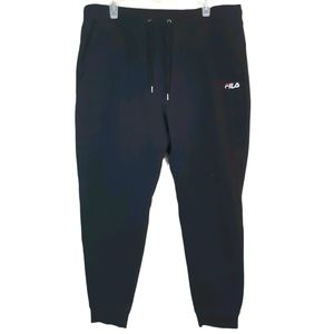 FILA   embroidered logo sweat pant with ankle cuff